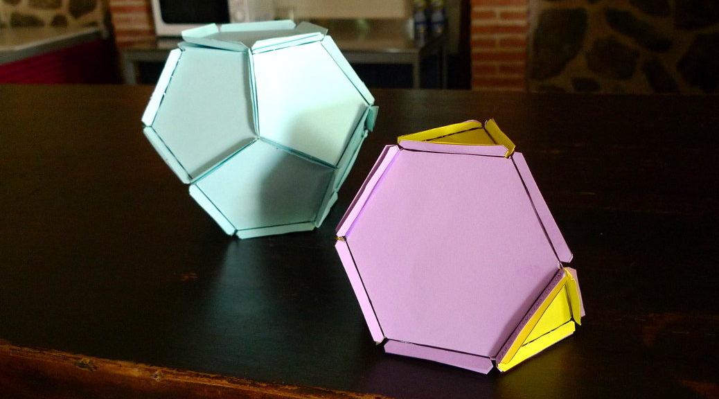 Cabecera poliedros con gomas elásticas