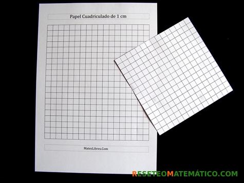 Proyecto Matemáticas Manipulativos Volumen. Papel cuadriculado en cm.