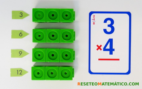 Multiplicación con Policubos como repetición de sumas