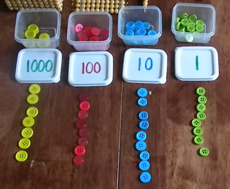 Sellos Montessori con botones