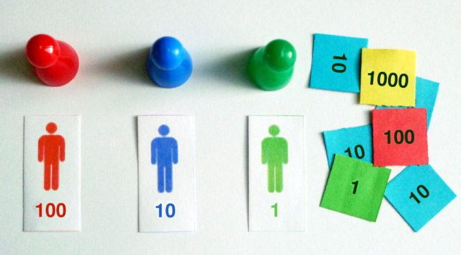 Sellos Montessori: Cómo dividir