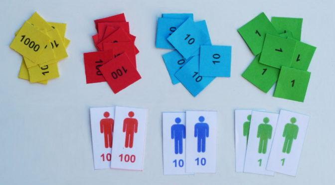 Sellos Montessori de papel