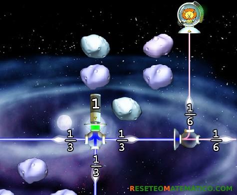 Refraction juego con fracciones. Detalle nivel 2.5